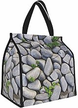 Rocks Stones Pebbles Background Gray Lunch Tote