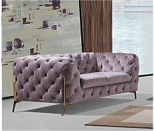 Rocky 2 Seater Chesterfield Sofa Rosdorf Park