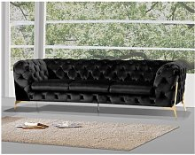 Rocky 3 Seater Chesterfield Sofa Rosdorf Park