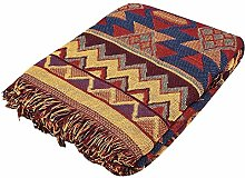 Rockyin Throws for Beds, Double Sided Cotton Woven