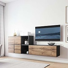 Roco BMF 9 Anthracite Wotan Wood Effect Wall Unit