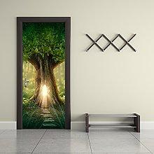 Rocwart 3D Door Mural Wallpaper for Living Room