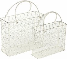 Rodemack Wire Mesh 2 Piece Decorative Basket Set