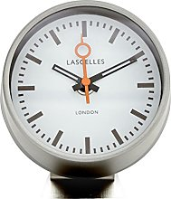Roger Lascelles Alarm Clock, Metal, Grey, 11 x 5 x