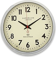 Roger Lascelles Chrome Radio Controlled Wall Clock