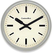 Roger Lascelles Clock, Metal, Grey, 36 x 10 x 36 cm