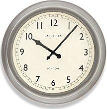 Roger Lascelles Clock, Metal, Pewter, 45.5 x 8 x