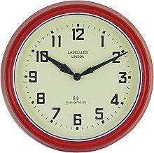 Roger Lascelles Clock, Metal, Red, 30 x 6 x 30 cm
