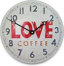 Roger Lascelles Clock, Tin White, 28 x 4 x 28 cm