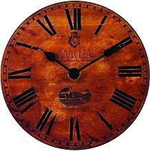 Roger Lascelles Clock, Wood Brown, 15 x 4 x 15 cm