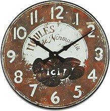 Roger Lascelles Clock, Wood, Brown, 36 x 4 x 36 cm