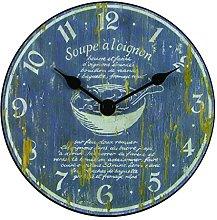 Roger Lascelles Clock, Wood, Grey, 15 x 4 x 15 cm
