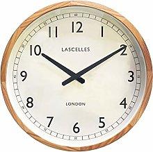 Roger Lascelles Clock, Wood, Pine/Cream, 41.5 x 5