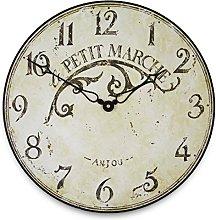 Roger Lascelles Clocks Wall Clock, Cream, Medium