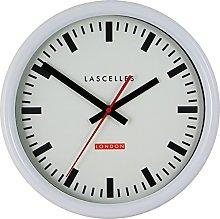 Roger Lascelles Clocks Wall Clock, White, Medium