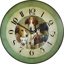 Roger Lascelles, Four dogs and a knave Wall Clock