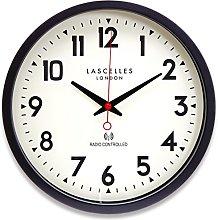 Roger Lascelles Radio Controlled Wall Clock, Black