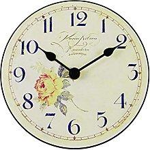 Roger Lascelles Table Clock, Wood, Cream, 15 x 4 x