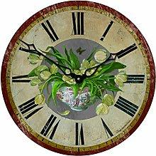Roger Lascelles Tulip Motif Wall Clock