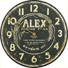 Roger Lascelles Wall Clock, Wood, Black, 36 x 5 x