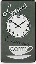 Roger Lascelles Wall Clock, Wood, Grey, 41.5 x 5 x