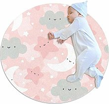 rogueDIV Cloud Moon And Stars Large Baby Rug for