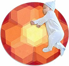 rogueDIV Hexagon Abstract Large Baby Rug for