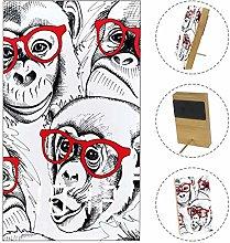 rogueDIV Monkey Portraits Glasses Digital Clock