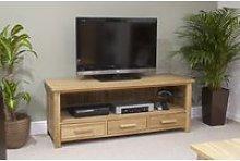 Rohan 130cm Oak Widescreen TV Unit