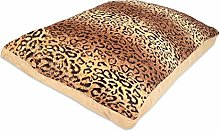 Rohi Luxury Dog Bed Mattress Cushion, Cheeta Print
