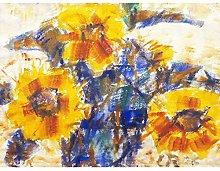 Rohlfs Sunflowers II Painting Extra Large Art