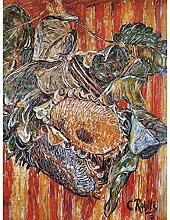 Rohlfs Sunflowers Painting Large Wall Art Print