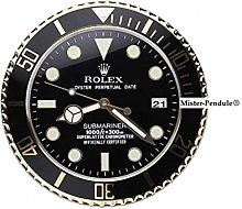 Rolex Submariner Clock. Black and Gold - Jewelers