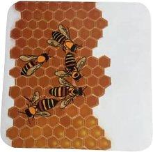 Rolfe & Wills - Bee Coaster - orange | White -