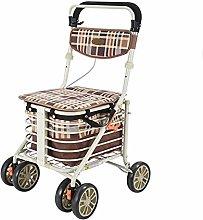 Rollator Walker Shopping Trolley Cart Walking Aid