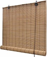 Roller Blind Bamboo 80x220 cm Brown - Brown -