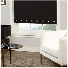 Roller Blind Sq. Eyelet 60 x 165cm Black