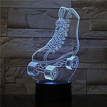 Roller Skates Multi Colors 3D W Lava LED Night