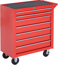 Roller Tool Cabinet Storage Box 7 Drawers Caster
