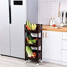 Rolling Cart Kitchen Bathroom Shelf Vegetable Rack