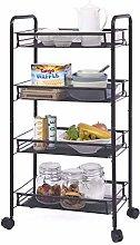 Rolling Cart Storage Trolley - 4 Tier Kitchen