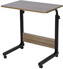 Rolling Laptop Table Height Adjustable Computer