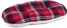 Rollo Check Oval Pillow in Red/Black Archie & Oscar