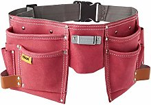Rolson 68630 Double Leather Tool Pouch - Pink