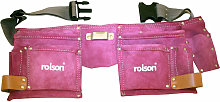 Rolson 68630 Pink Double Leather Tool Pouch
