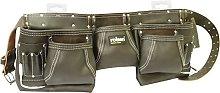 Rolson 68870 Twin Pocket Single Tool Belt - Black