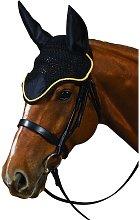 Roma Crochet Ear Cover (Pony) (Black/Gold)