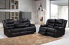 Roma Leather Recliner Sofa 3+2 Seater Luxury Sofa