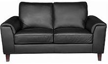 Roma Real Leather/Faux Leather 2 Seater Sofa