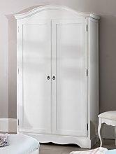 Romance Antique White Double Wardrobe, French full